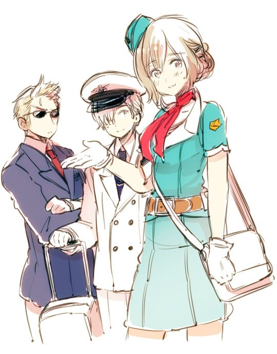 Axis Powers Hetalia Belgium, Luxembourg and Netherlands.