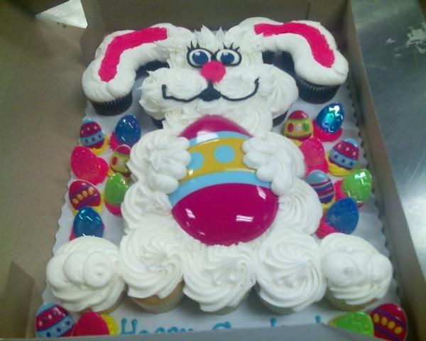 Cupcake Easter Bunny cake.