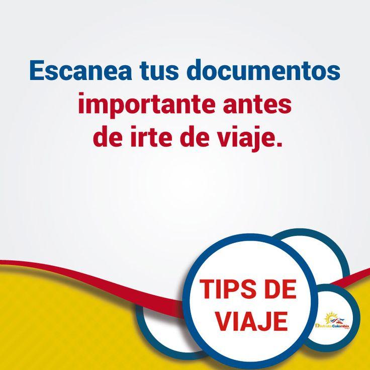 Recuerda proteger tus documentos y evita percances durante tus #vacaciones #disfrutacolombia