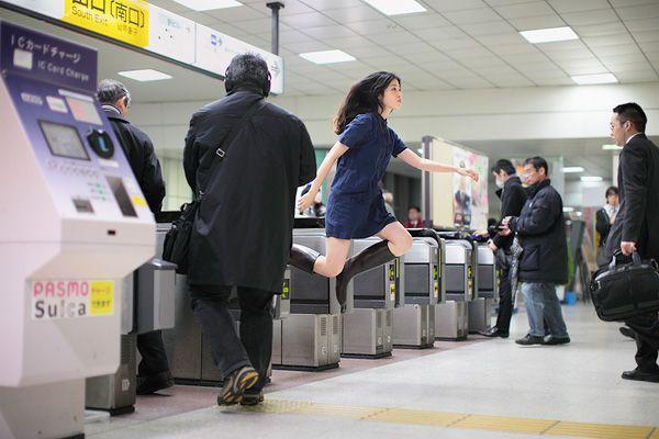 levitating self-portrait by Natsumi Hayashi