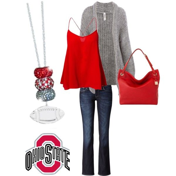 """Ohio State Outfit"" with matching Sparkle Life necklace"
