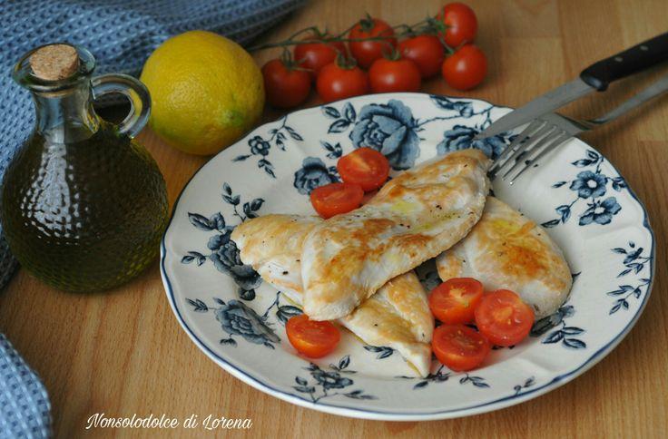 Petto di pollo alla piastra con salsa al limone