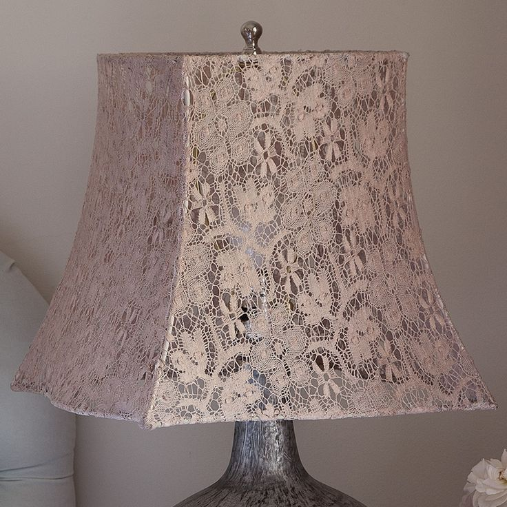 Beige Square Scallop Lace Lampshade ~ Rachel Ashwell collection  ~ Shabby Chic Style & Inspiration ♥ #shabbychic