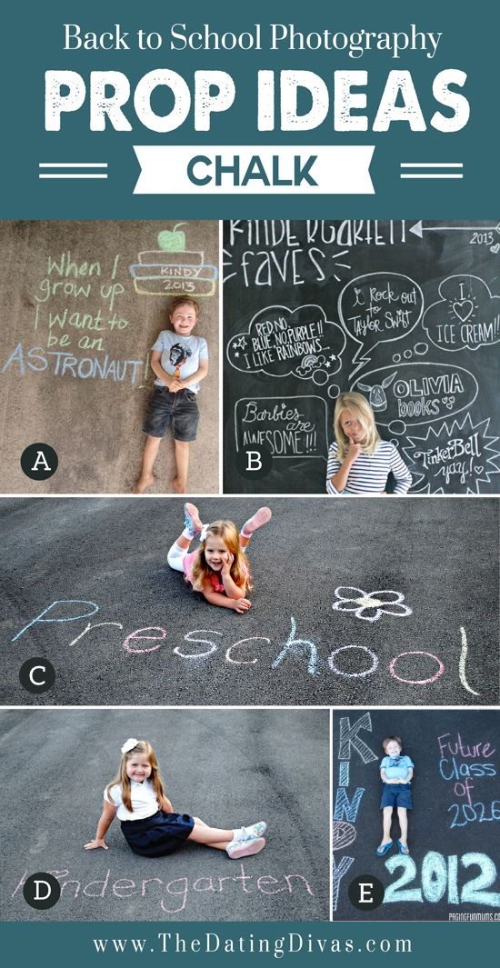 Chalk for Back to School Props