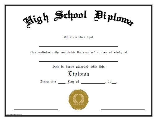 Candid image inside free printable diplomas