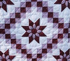 A dahlia irish chain quilt...Have not found the actual instructions but will try to improvise