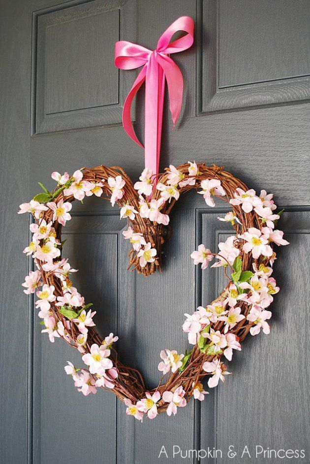 17 Fabulous DIY Valentines Day Wreath Designs