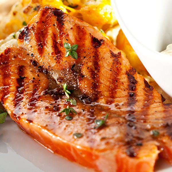 A glazed salmon recipe with Brown Sugar and Mustard Glaze. Glazed Salmon Recipe from Grandmothers Kitchen.