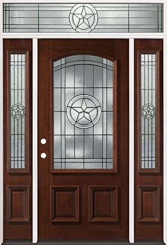 Texas Star 3 4 Arch Mahogany Prehung Wood Door Unit with