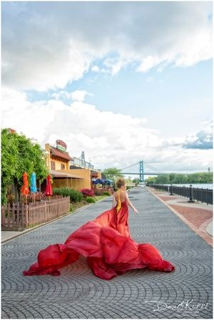 Parachute Dress-Alice Andrews Designs, RENTAL