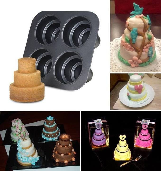 Tiered mini wedding cake moulds