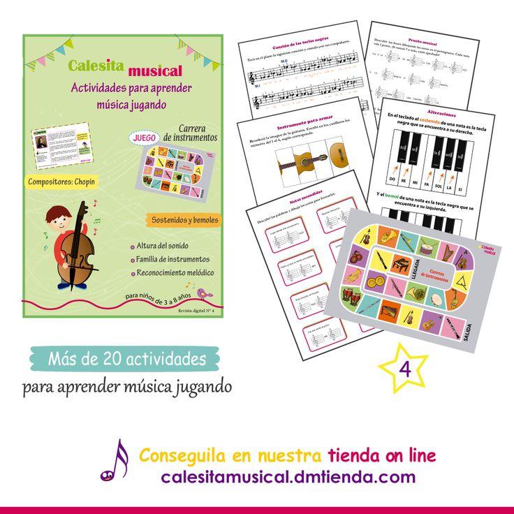 Nuestra revista digital contiene actividades para acompañar la enseñanza músical. Proponemos actividades lúdicas para que los niños adquieran conocimientos musicales mientras se divierten y desarrollan su creatividad. https://www.facebook.com/calesitamusical.com.ar