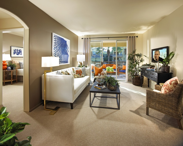 The Georgetown living room at City Lights in Aliso Viejo, CA.