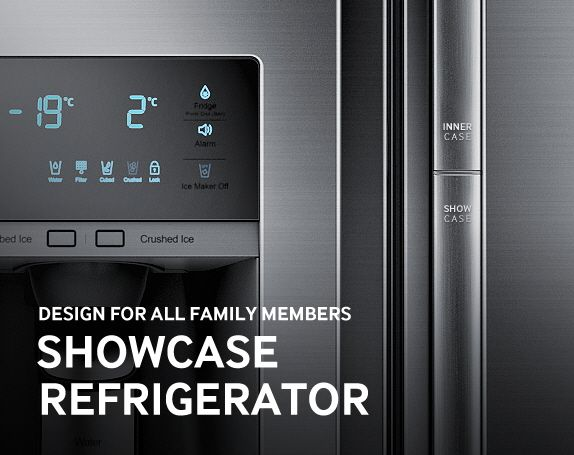 Samsung Showcase Refrigerator Design Story - The Samsung Showcase refrigerator design was built through the innovation, by denying all stereotypes we had on the refrigerator's 'space.'
