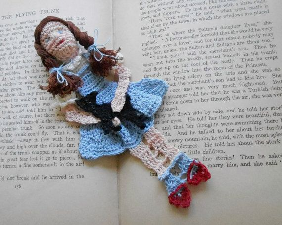 dorothy and toto thread crochet bookmark unique bookmarks