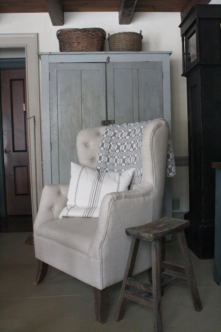 Linen chair found at Marshalls