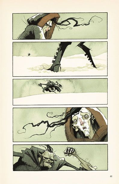 an excerpt from an excellent graphic novel version of 'Frankenstein'