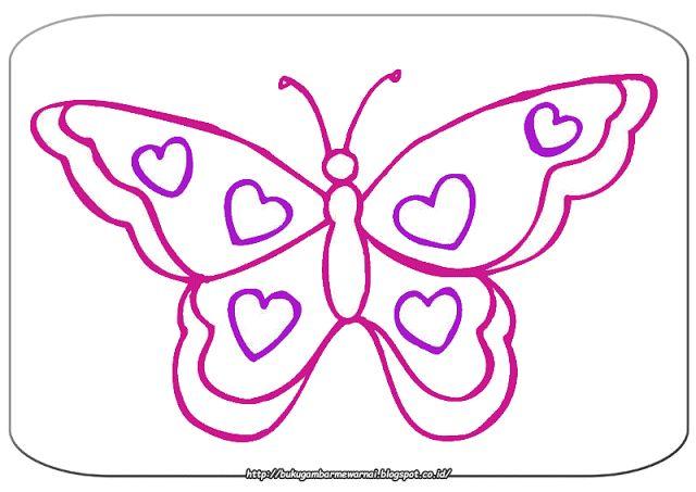 Gambar Mewarnai - Mewarnai Gambar Kupu-kupu Sederhana.   Gambar di atas adalah gambar mewarnai k...