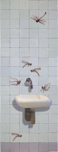 Fontein met Libelles - Albarello