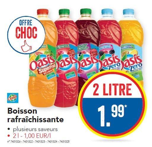 Lidl promotion: Boisson rafraîchissante - Oasis (Boissons ...