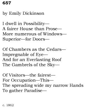 the extent of emily dickinsons poetry In the article emily dickinson, reclusive poet by headstufforg, this theme is discussed at length to describe the impact of dickinson's reclusiveness had on her as a poet.