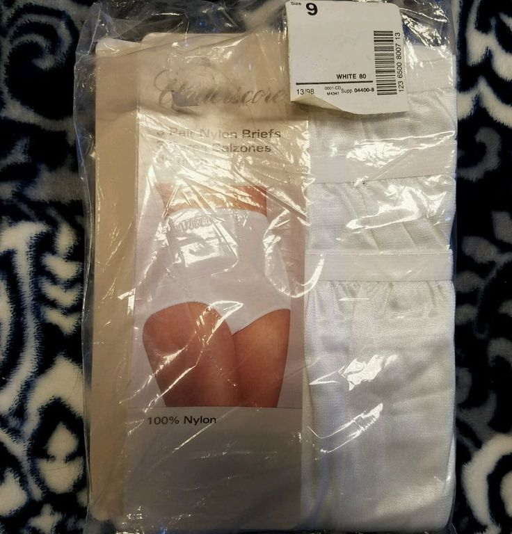 3 Womens Sz 9 UNDERSCORE 100% Nylon Granny Panties White Mushroom Gusset Panty | Clothing, Shoes & Accessories, Women's Clothing, Intimates & Sleep | eBay!