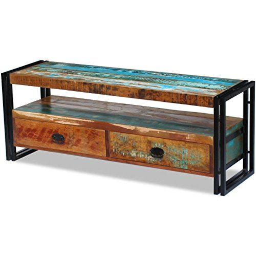 Tv Schrank Fernsehtisch Fernsehschrank Hifi Lowboard Massivholz Vintage Antik 1 In 2020 Lowboard Massivholz Into The Woods Holz