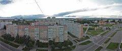 Десногорск. Вид на 3, 1 и 2 микрорайоны и центр города. Панорама