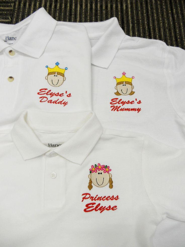 Family Polo Shirt - Personalised Polo Shirt embroidery by ThatCornerShop. #personalisedgifts #birthdaygifts #giftsforhim #giftsforher #giftideas #embroidery #familyshirts