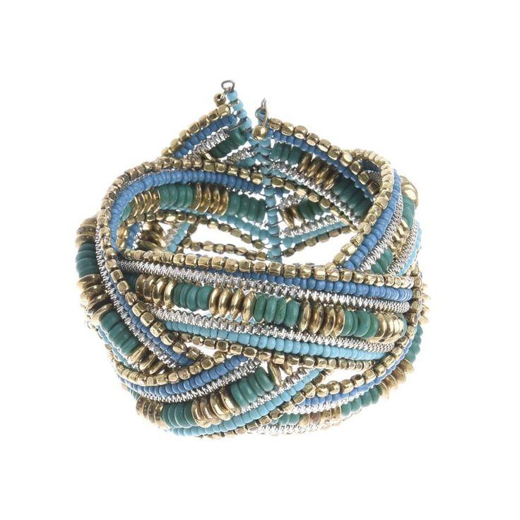BRACELET ΙΝ BLUE-GOLD COLORS - Bracelets - Jewellery - Accessories