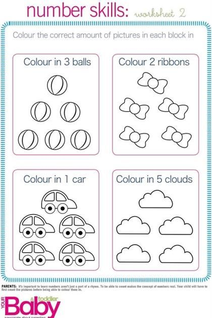 Kindergarten Readiness Printable Worksheets