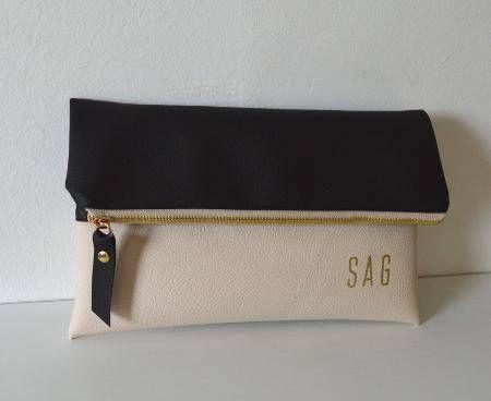 Colorblock Clutch Monogram Clutch Purse Evening Clutch Bag