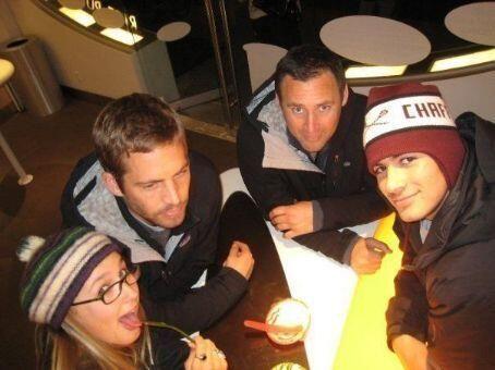 Paul Walker with friends