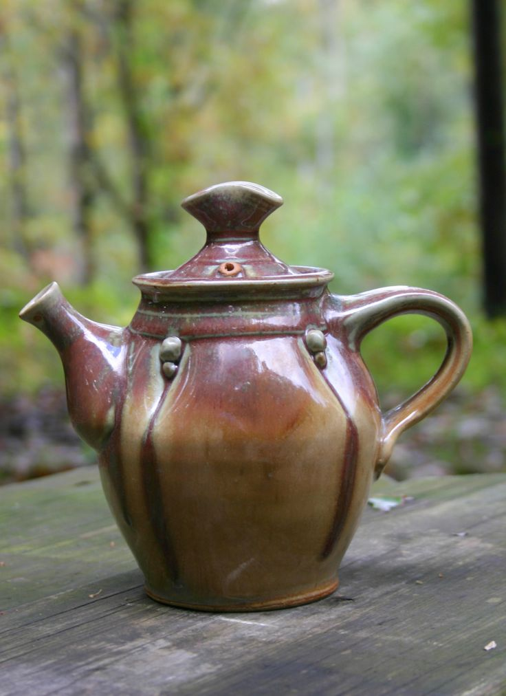 Small teapot side handled teapot red teapot by RobinKirbyPottery