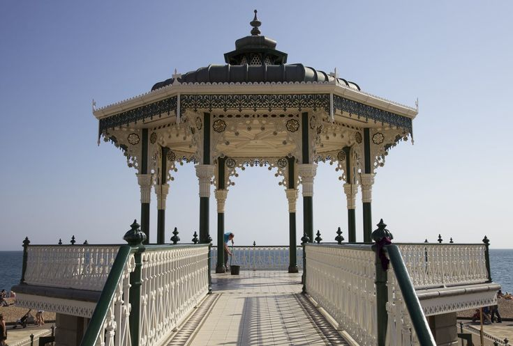 Hove Bandstand (also known locally as the 'Birdcage'). Completed in 1884, the Bandstand is thought to be one of the greatest examples of a Victorian bandstand surviving in England.