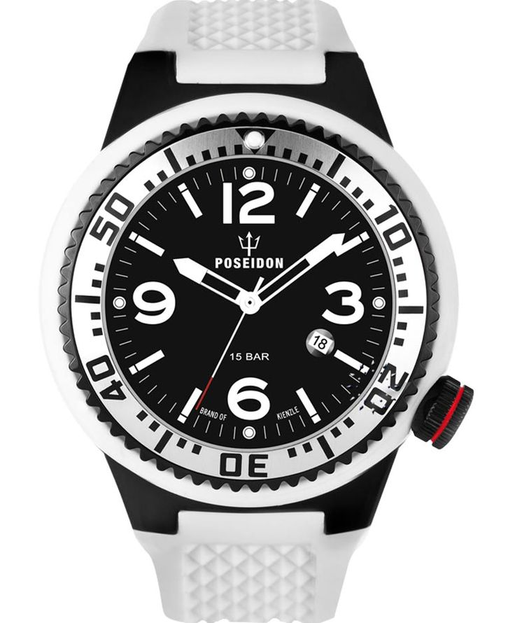 POSEIDON XXL Black Pro White Silicone Strap Τιμή: 139€ http://www.oroloi.gr/product_info.php?products_id=34100