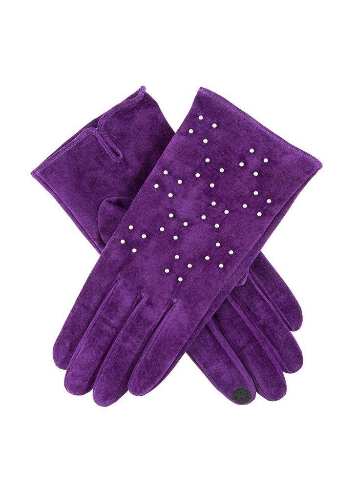 Image result for purple designer leather gloves ladies