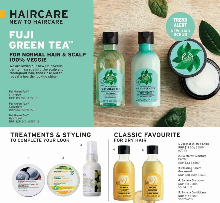 New hair care & some new packaging for the old | Body shop ...