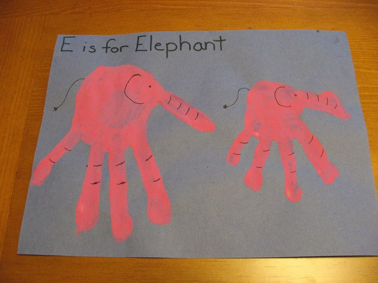 letter e crafts preschoolers preschool crafts hand elephants