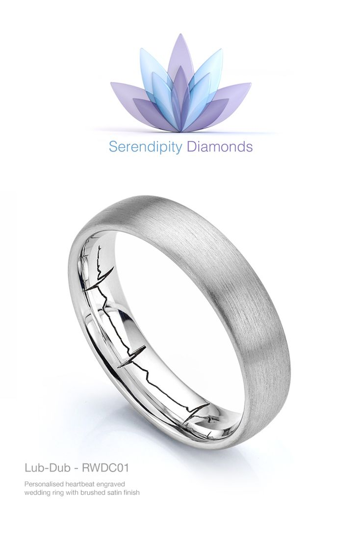 Heartbeat engraved wedding ring from Serendipity Diamonds. Create a uniquely engraved wedding ring with Serendipity Diamonds. Let us transform your ideas, concepts and creation into a dream wedding ring—beautifully personalised for the bride, groom or as a combined wedding ring set.