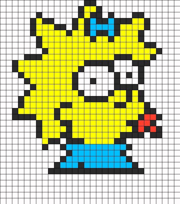 Maggie Simpson Perler Bead Pattern | Bead Sprites | Characters Fuse Bead Patterns