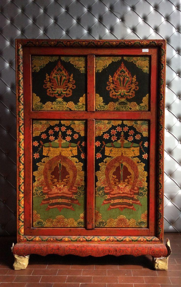Armadietto tibetano a 4 ante OLTREFRONTIERA www.oltrefrontiera.it