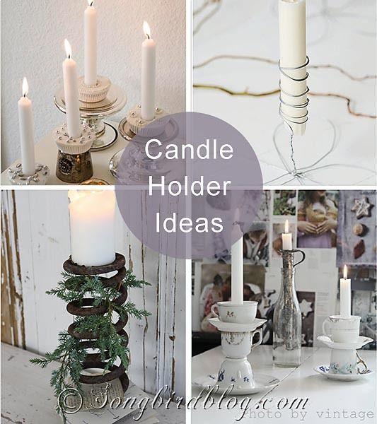 Idea post with creative candle holder ideas