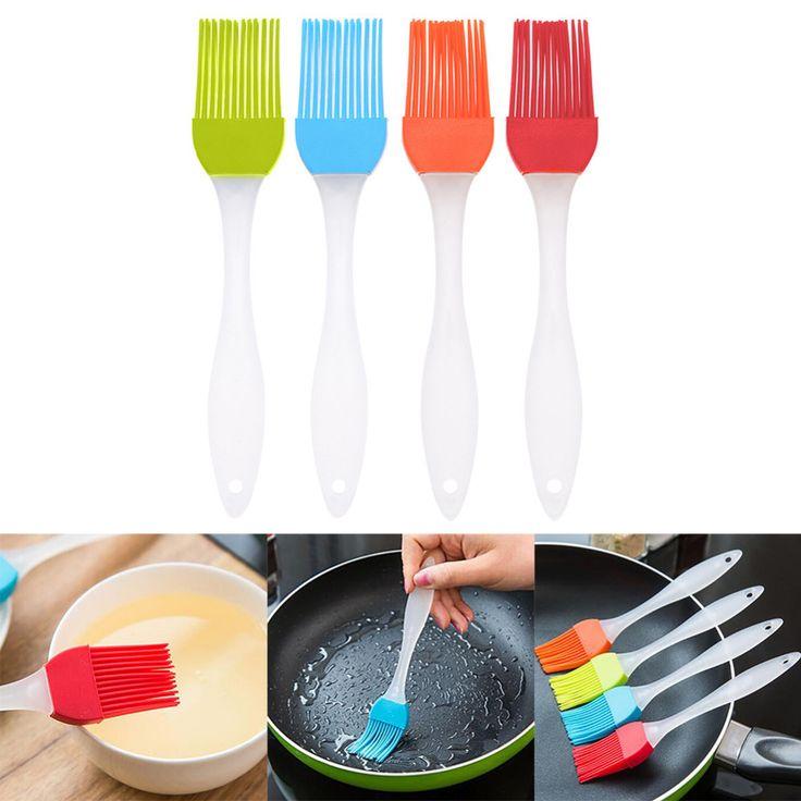 1 Pcs/lots Ramah Lingkungan Silikon Cair Minyak Alat Kuas Kue Mentega Roti Pastry Brush Baking Alat Saus/Cuka Alat Memasak