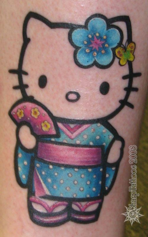 hello kitty tattoos | Hello Kitty as a Geisha! :)