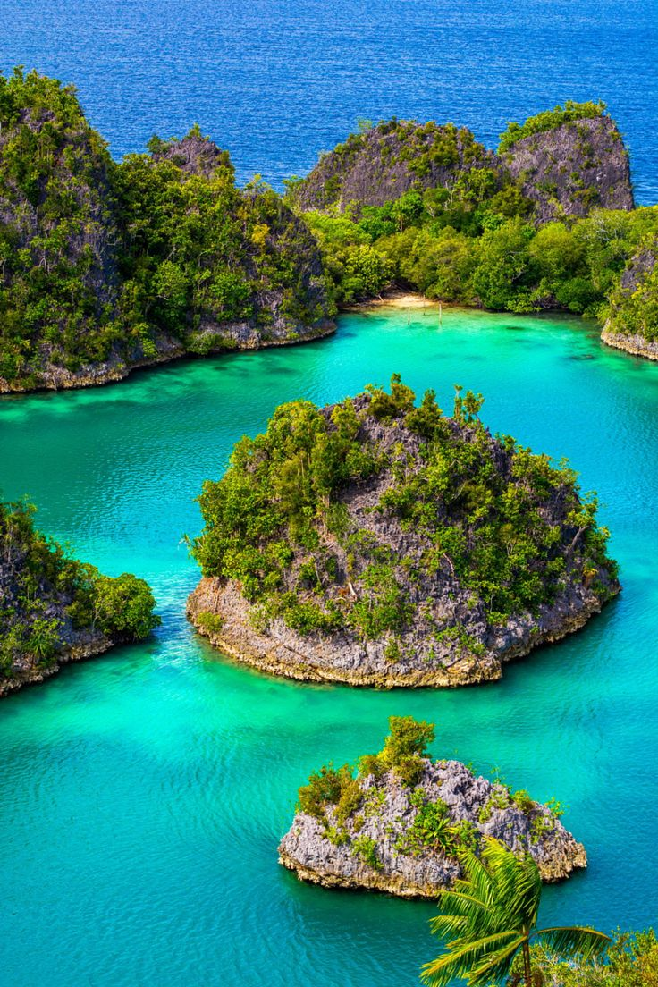 Pianemo Islands. Located off the northwest tip of Birds Head Peninsula on the island of New Guinea, in Indonesia's West Papua province, Raja Ampat