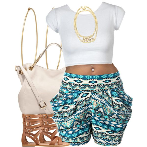 Need - the shorts & sandals (& belly button piercing ;)  )