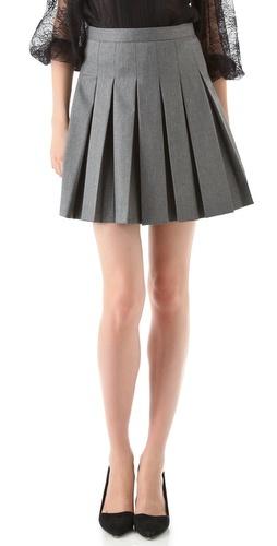 Gray Pleated Skirt   Alice + Olivia