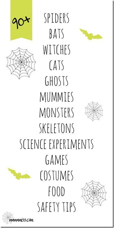 kiddo: Non Scary Halloween Crafts And Activities – Creepy Crawlies