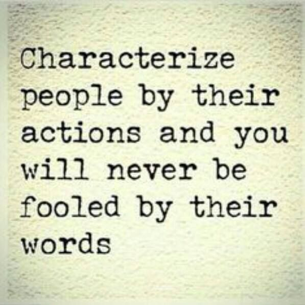 #Actions #Words #People #Character